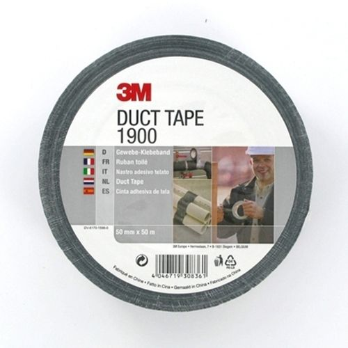 3m duct tape 1900 50 mm x 50 m zwart