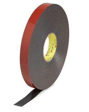 3m vhb 5952 dikte 11 mm breed 12 mm x 33 m zwart