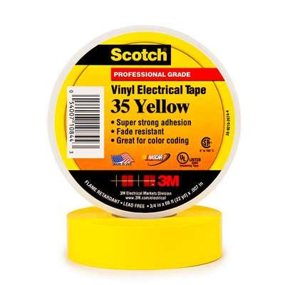 3m scotch 35 pvc tape 19mm x 20m geel