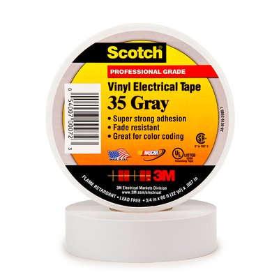 3m scotch 35 pvc tape 19mm x 20m grijs