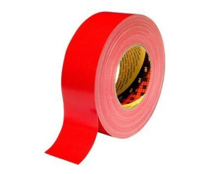 3m scotch ducttape 389 dikte 026 mm 25 mm x 50 m rood