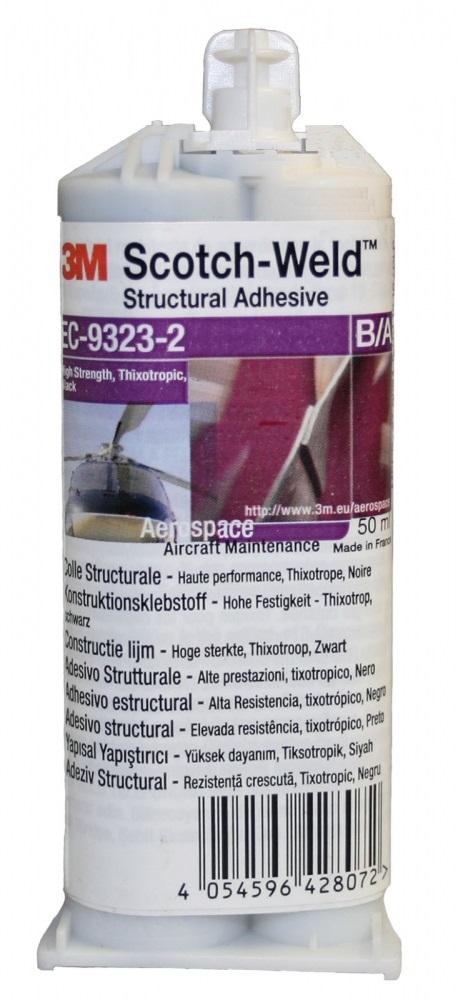 3m ec 9323 ba2 scotchweld structural adhesive 50 ml zwart