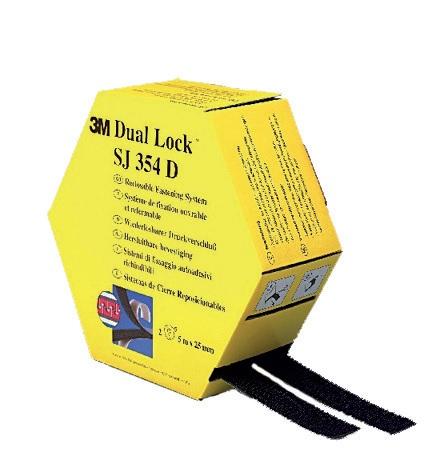 3m dual lock klikband sj354d 25 mm 2 x 5 m zwart