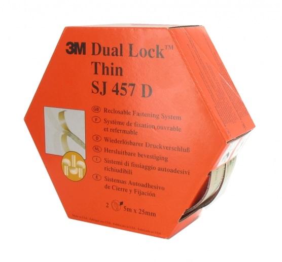 3m thin dual lock klikband sj457d 25mm x 5 m transparant