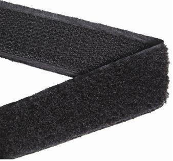 kabelbinder 20 mm back to back 25 meter zwart