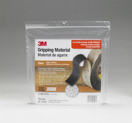 3m gripping material soft zwart 25mm x 2x rol 45 m