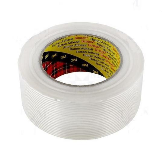 3m scotch vezelversterkte tape 8956 50 mm x 50 m helder